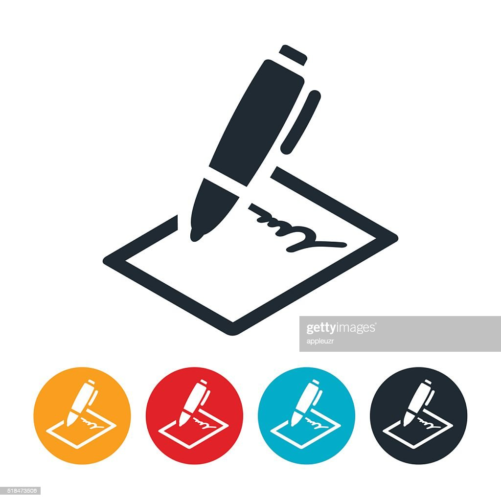 Contract Icon : stock illustration