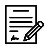 contract Vector Thin Line Icon
