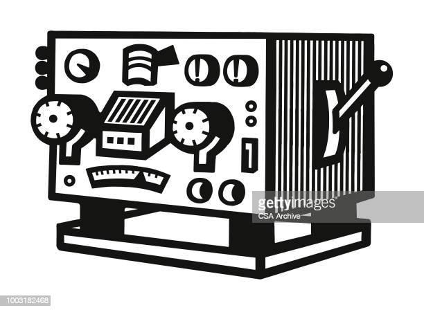 stockillustraties, clipart, cartoons en iconen met contraption - geval