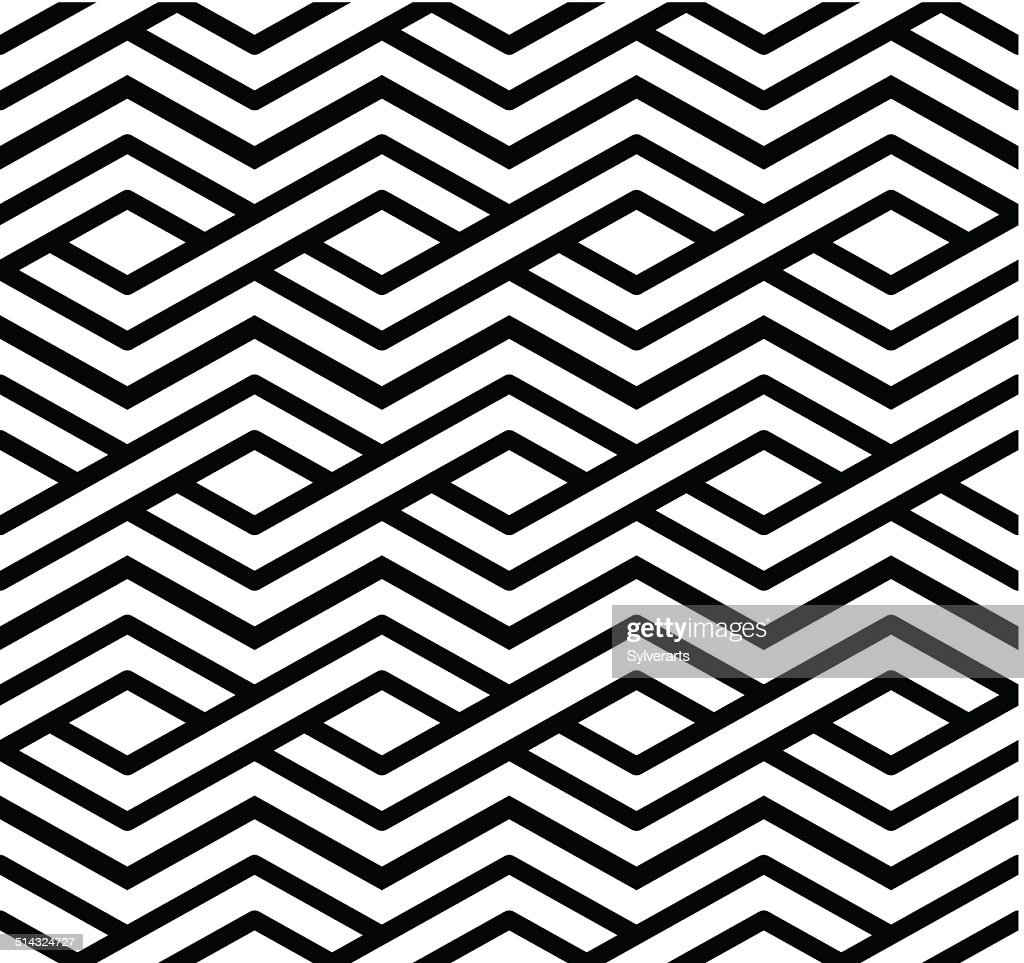 Contrast geometric seamless pattern with symmetric ornament.