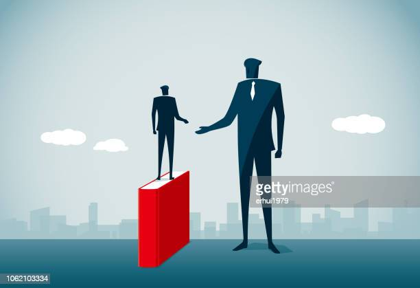 contrasts - tall person stock illustrations