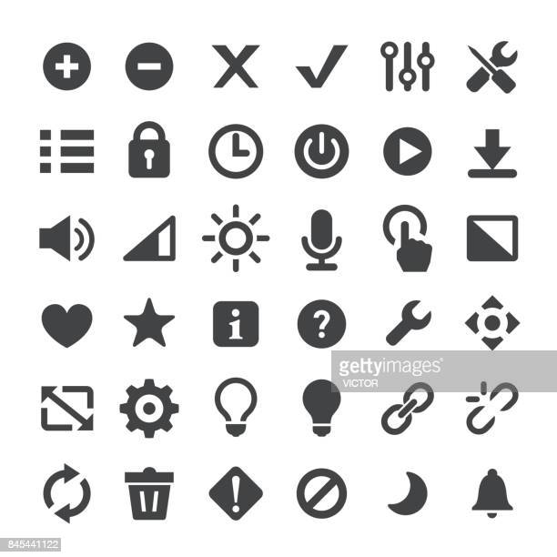control and toolbar vector icons - plus sign stock illustrations, clip art, cartoons, & icons