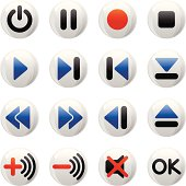 Control buttons (shiny series)