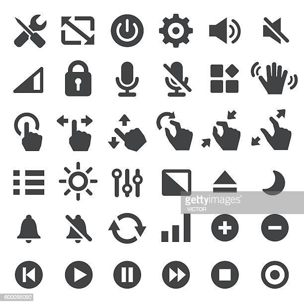 control icons - big series - play off stock illustrations