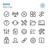 Control Icons - Vector Line Series