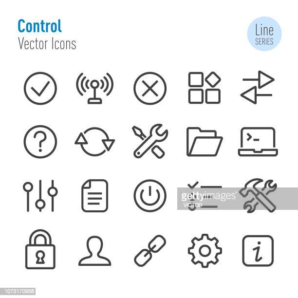 control icons - vector line series - control stock illustrations