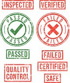 Control, Inspection - rubber stamps
