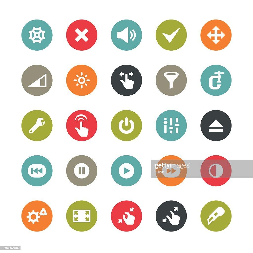 Control panel tools icons / Ringico series