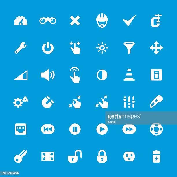 Control Panel Tools vector icons set