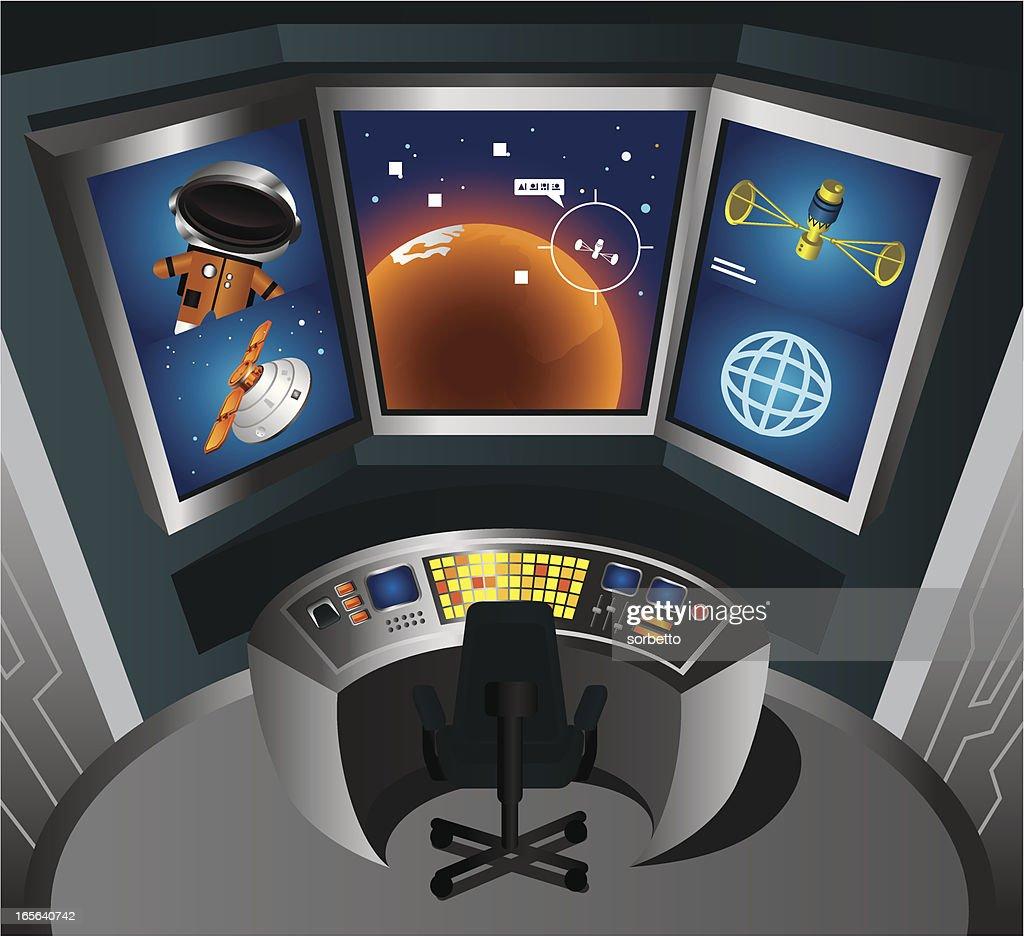 Control Room Vector Art
