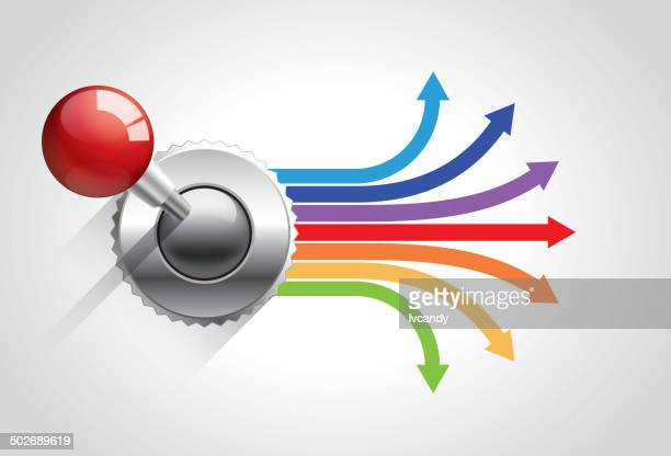 control the direction - joystick stock illustrations, clip art, cartoons, & icons