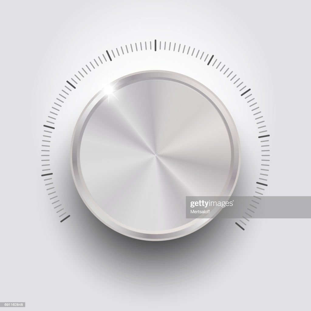 Control volume on white background isolated object abstract