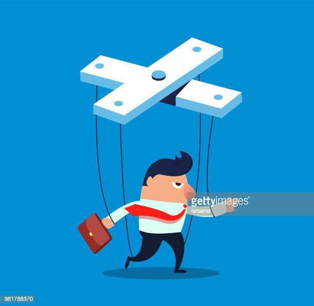controlled businessman - foreman stock illustrations, clip art, cartoons, & icons