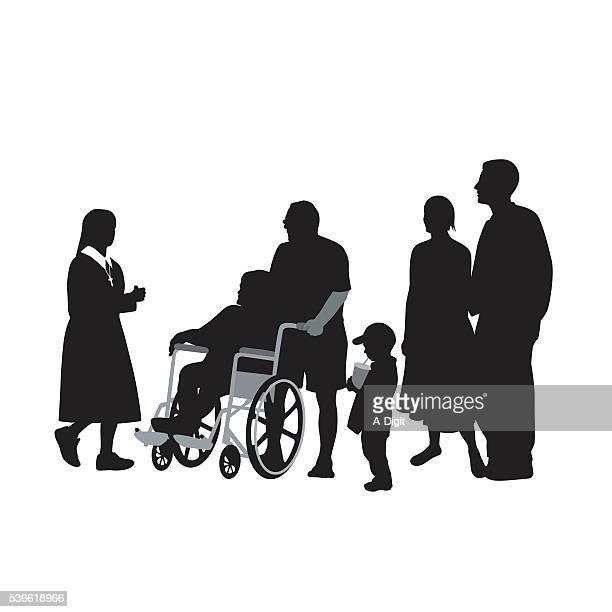 convalescence - paralysis stock illustrations, clip art, cartoons, & icons