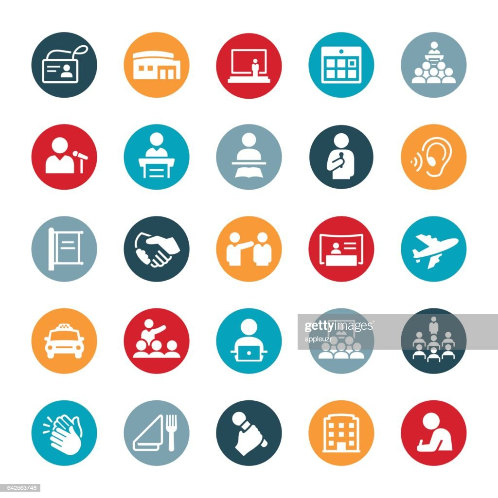 Convention Icons : Stock Illustration
