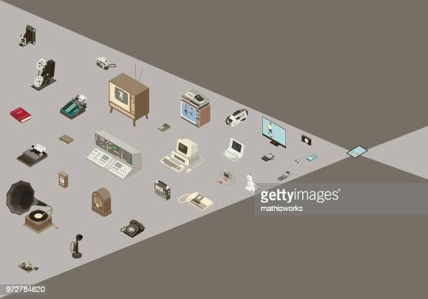 Converging Technology Illustration