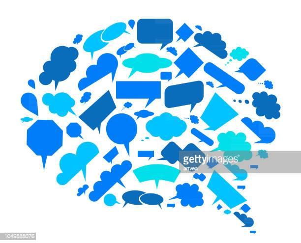 conversation speech bubbles - telephone receiver stock illustrations