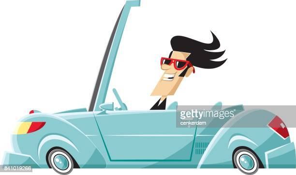 convertable car - car ownership stock illustrations, clip art, cartoons, & icons
