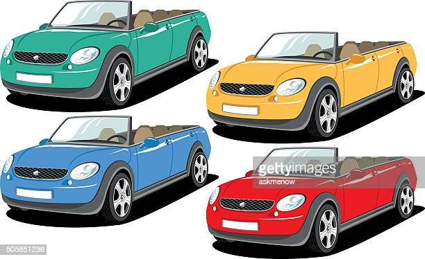 illustrations et dessins anim s de voiture d capotable getty images. Black Bedroom Furniture Sets. Home Design Ideas