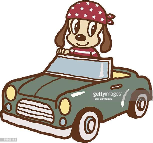 convertible - domestic car stock illustrations, clip art, cartoons, & icons