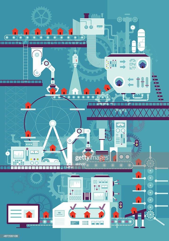 Fließband : Stock-Illustration