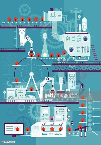 conveyor belt - plant stock illustrations