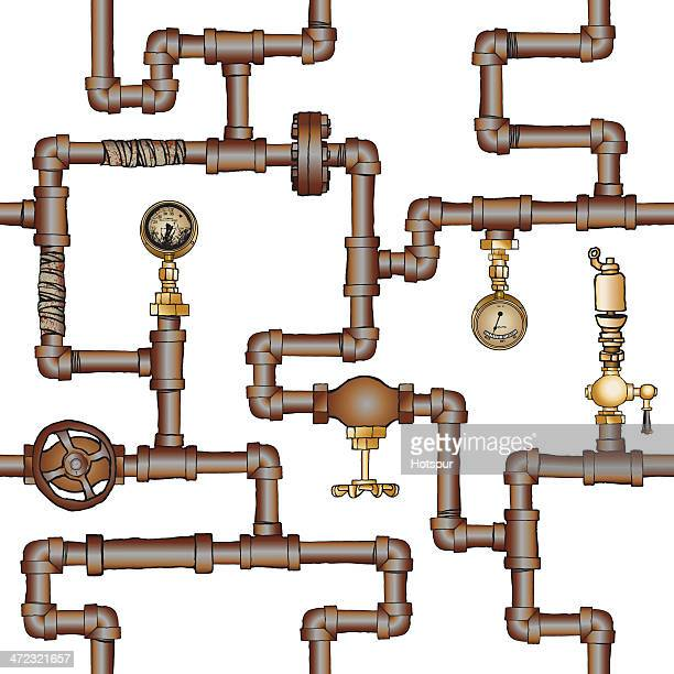 Complicada & tubos e válvulas