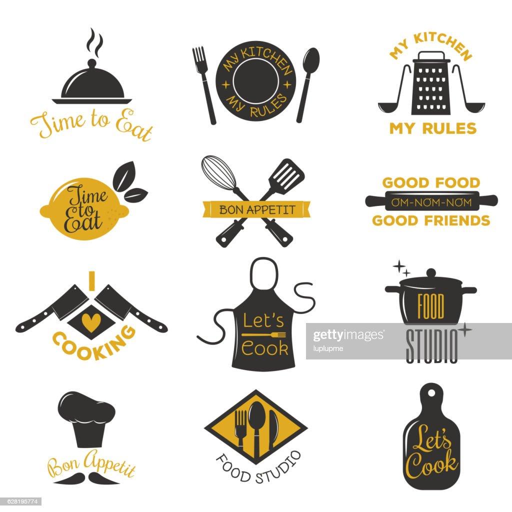 Coocking badge vector illustration.