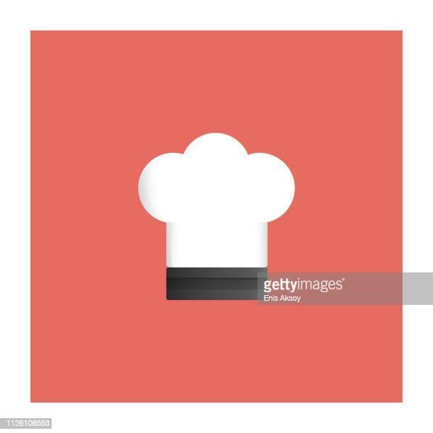 cook hat icon - cap stock illustrations
