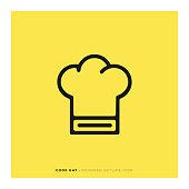 Cook Hat Rounded Line Icon