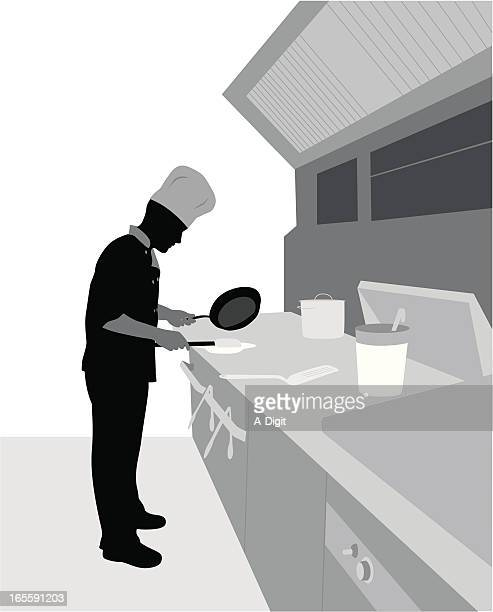 Cook Vector Silhouette