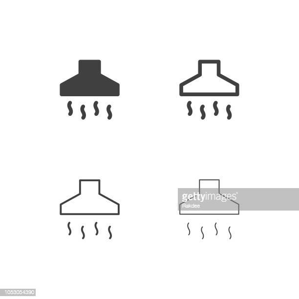 cooker hood icons - multi series - exhaust fan stock illustrations, clip art, cartoons, & icons