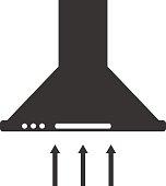 Cooker hood, kitchen hood icon.