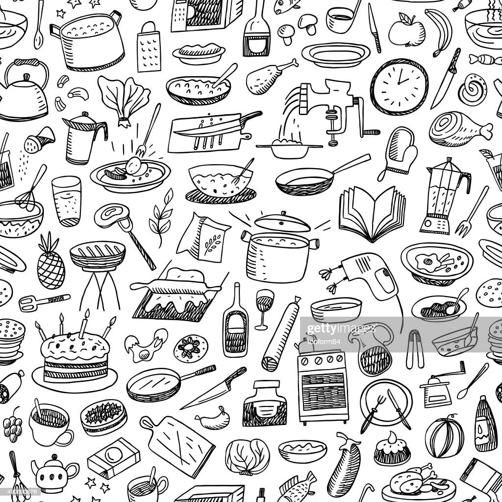 cookery seamless background