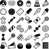 Cookie and candy icons
