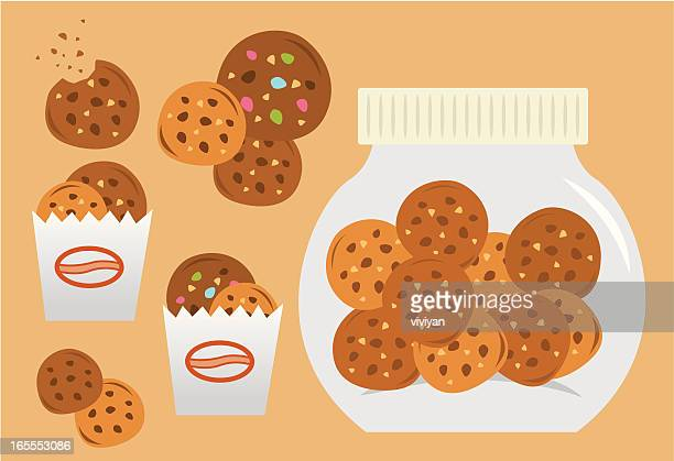 cookies sets - cookie stock illustrations, clip art, cartoons, & icons