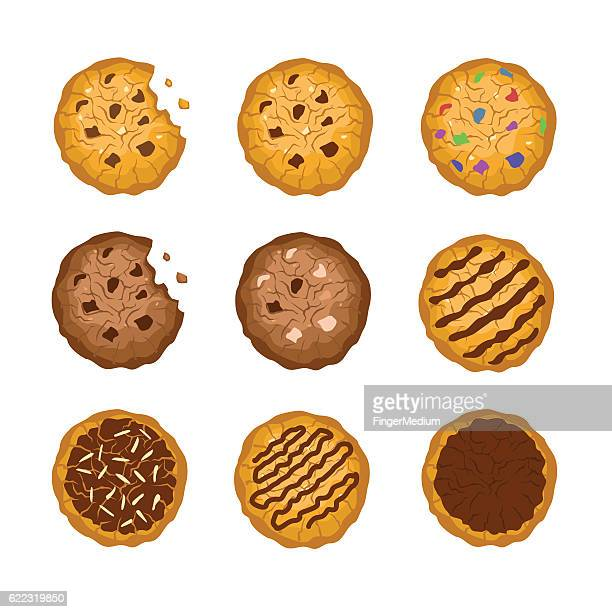 cookies - cookie stock illustrations, clip art, cartoons, & icons