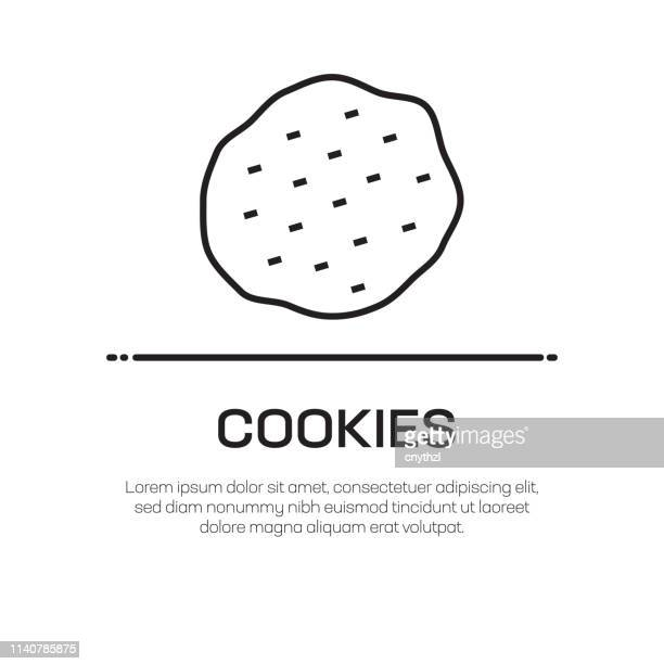 クッキーベクターラインアイコン-シンプルな細い線のアイコン、プレミアム品質のデザイン要素