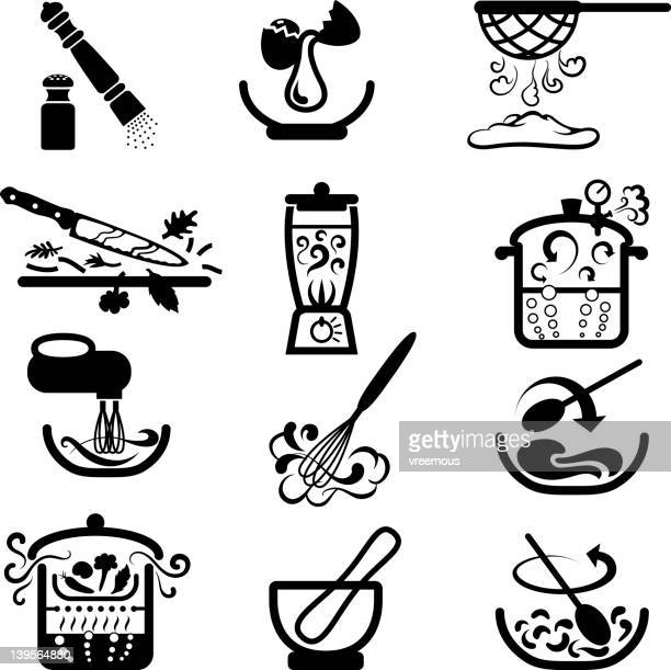 cooking actions - egg beater stock illustrations, clip art, cartoons, & icons