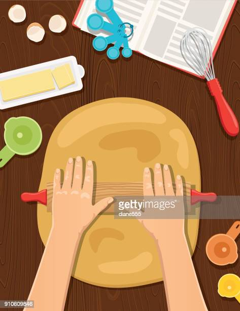 cooking and baking from above - dessert topping stock illustrations, clip art, cartoons, & icons