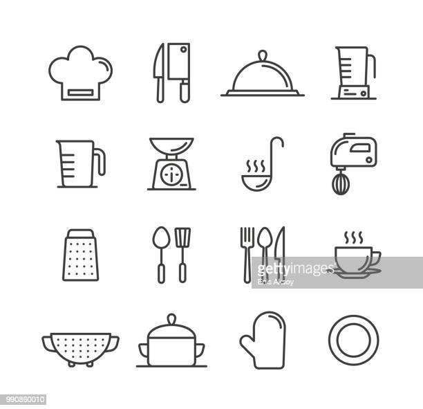 料理とキッチンのアイコン - 食材点のイラスト素材/クリップアート素材/マンガ素材/アイコン素材