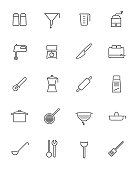 Cooking Appliances Vector Line Icons Collection