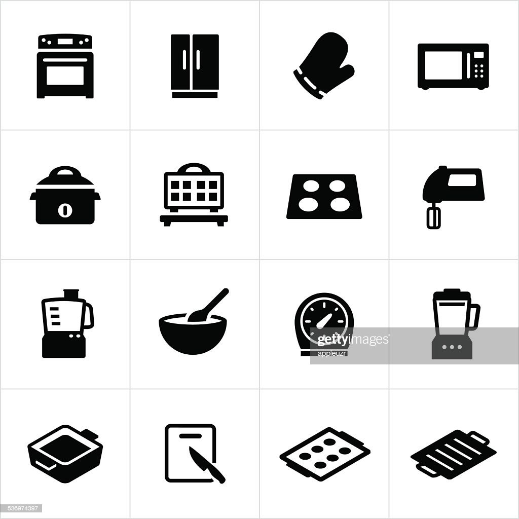 Cooking Equipment Icons : stock illustration