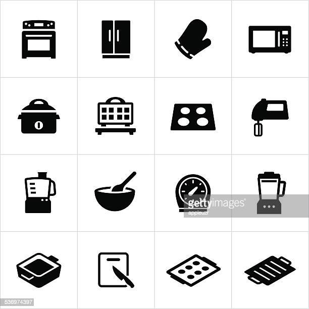 cooking equipment icons - baked stock illustrations, clip art, cartoons, & icons