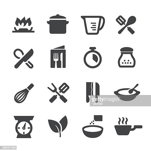 cooking icons - acme series - baked stock illustrations, clip art, cartoons, & icons