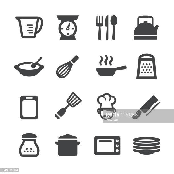 cooking icons - acme series - kitchen scale stock illustrations, clip art, cartoons, & icons