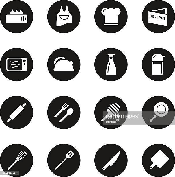 Cooking Icons - Black Circle Series