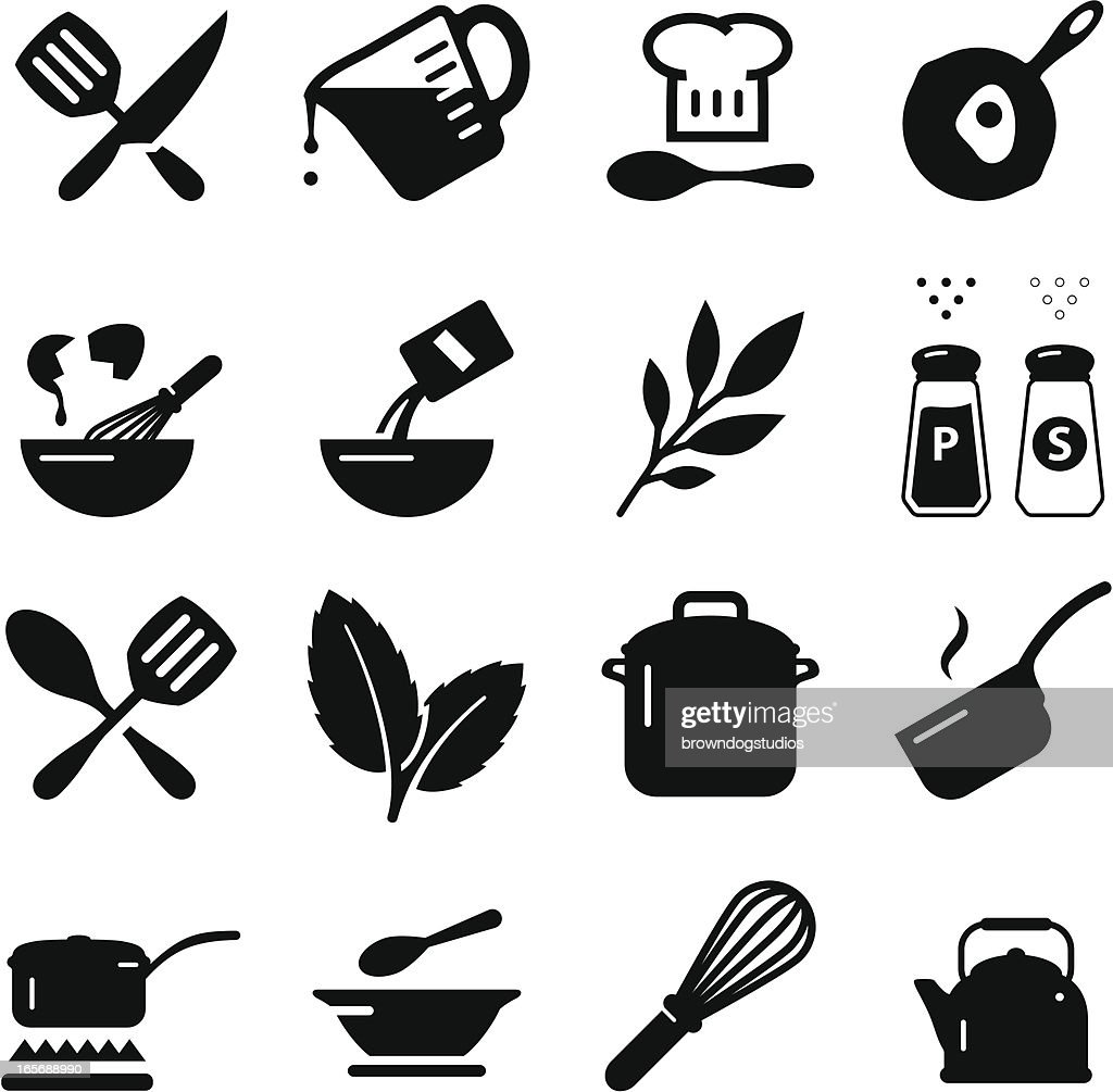 Cooking Icons - Black Series