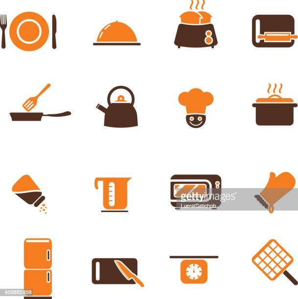 Cooking Icons Color Harmony