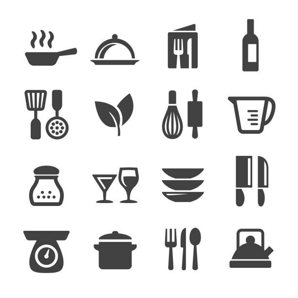 烹飪圖示套裝-acme 系列 - 焗 預備食物 幅插畫檔、美工圖案、卡通及圖標